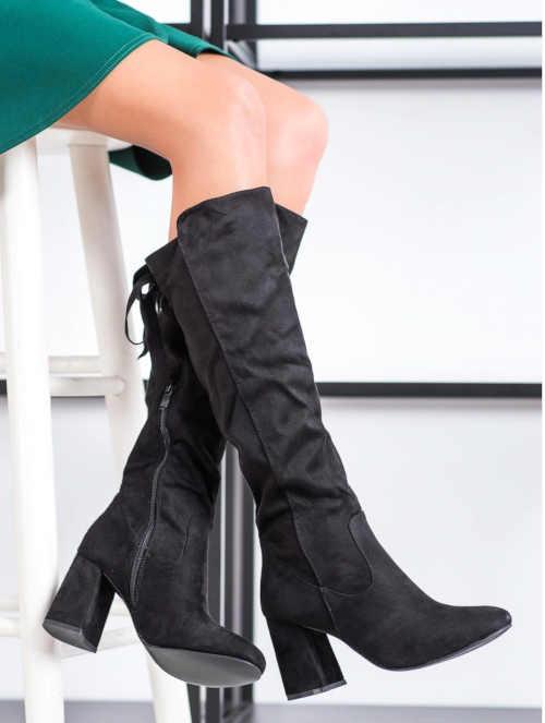 Damskie wysokie, nowoczesne buty