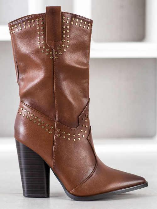 Buty brązowe do palców