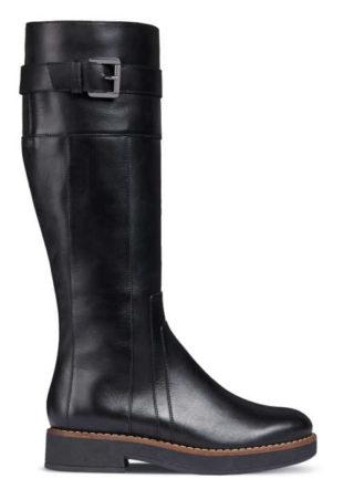 Czarne botki damskie na platformie GEOX ADRYA