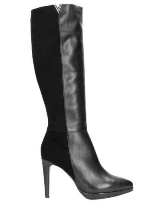 Czarne buty ze skóry