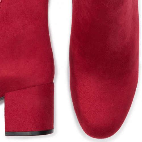 Nowoczesne, niskie czerwone botki damskie
