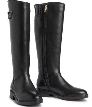 Czarne buty damskie Tommy Hilfiger