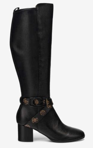 Czarne luksusowe buty damskie Guess