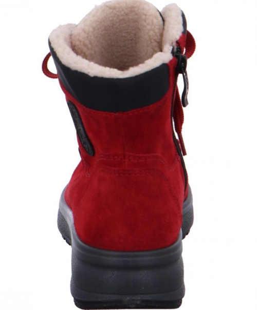 Czerwone buty do kostki dla kobiet