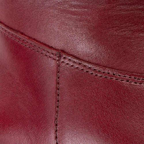 Damskie bordowe buty z prawdziwej skóry