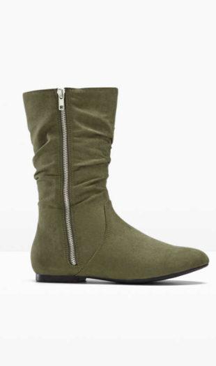 Dolne buty zapinane na zamek błyskawiczny z nowoczesnymi paskami