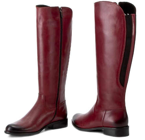 Fioletowe buty zimowe damskie w stylu wojskowym