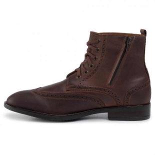 Męskie skórzane buty za kostkę