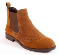Niskie kasztanowe buty w stylu kowbojskim