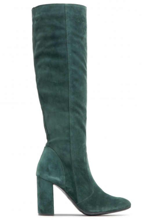 Stylowe wysokie buty w kolorze zielonym