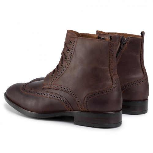 Wysokiej jakości męskie buty sznurowane do kostki