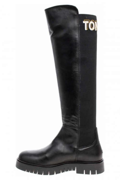 Czarne wysokie buty Tommy Hilfiger