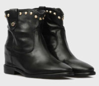 Niskie skórzane buty Tommy Hilfiger z ćwiekami