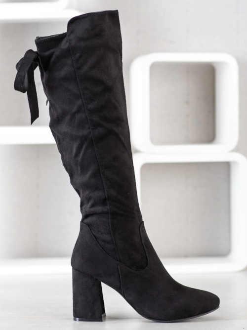 Stylowe damskie wysokie buty z zamkiem błyskawicznym