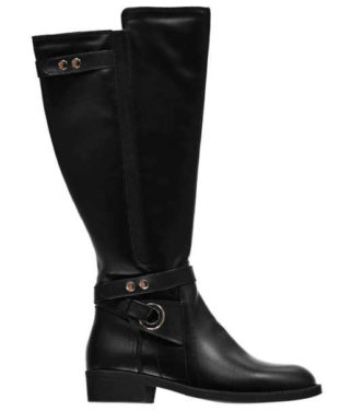 Stylowe wysokie buty odpowiednie dla szerszych łydek
