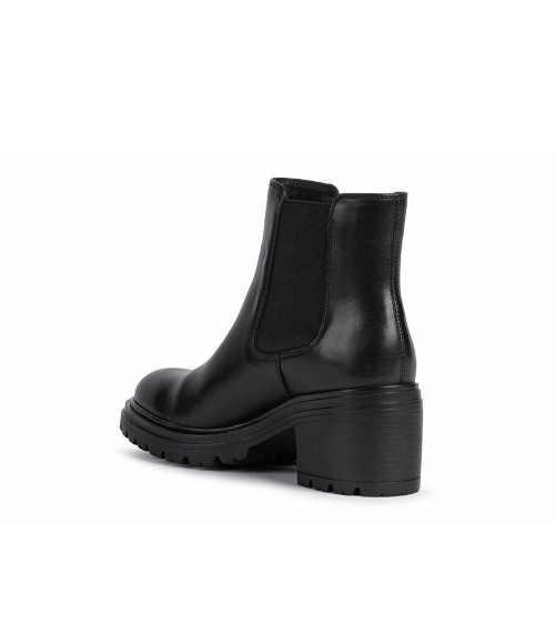 Czarne buty do kostki dla kobiet