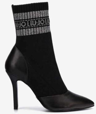 Czarne skarpety damskie na wysokim obcasie typu stiletto