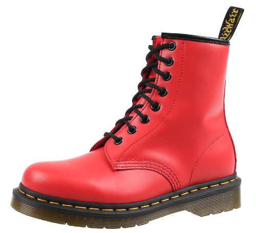 Czerwone miejskie buty zimowe dla kobiet