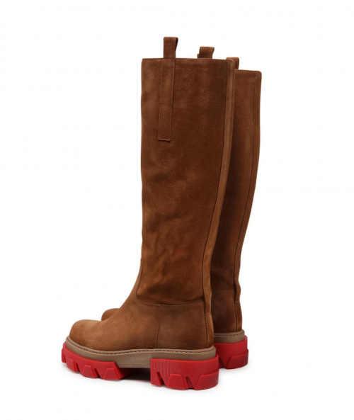 Damskie skórzane wysokie buty Carinii
