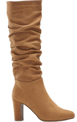 Damskie wysokie buty z paskiem