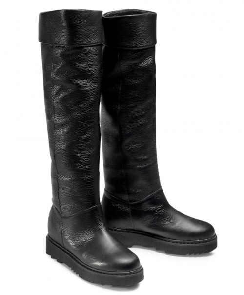 Jakość skóry wysokie buty damskie