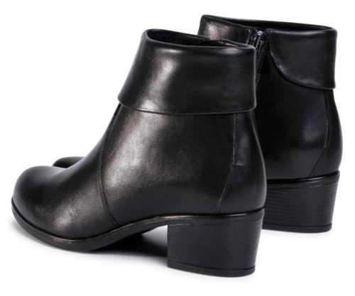 Niskie czarne botki na obcasie