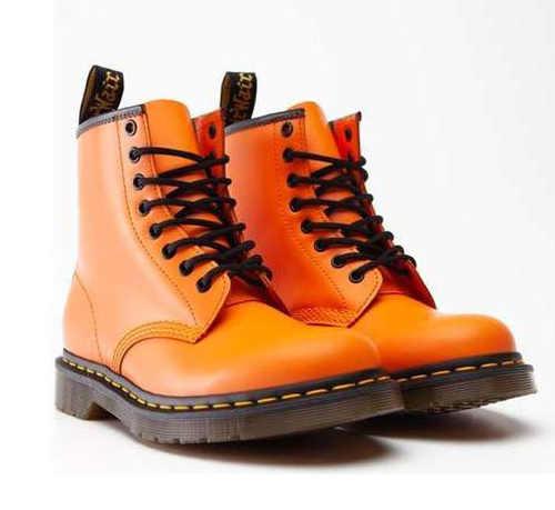 Buty za kostkę damskie w kolorze pomarańczowym