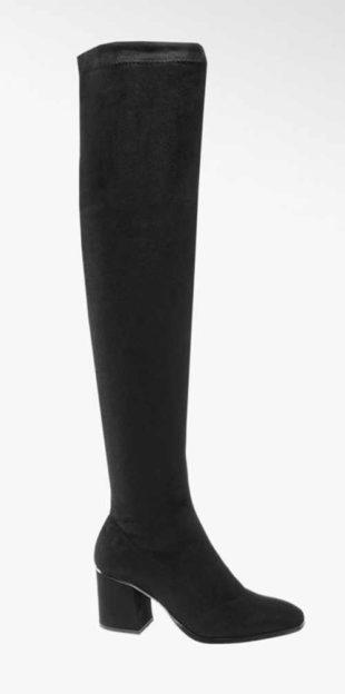 Czarne wysokie kozaki nad kolano Vero Moda