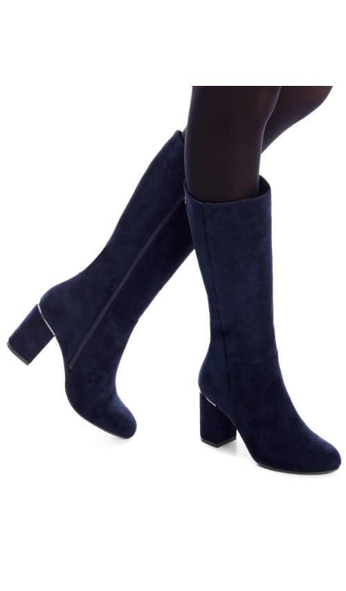 Niebieskie botki damskie w nowoczesnym niebieskim kolorze