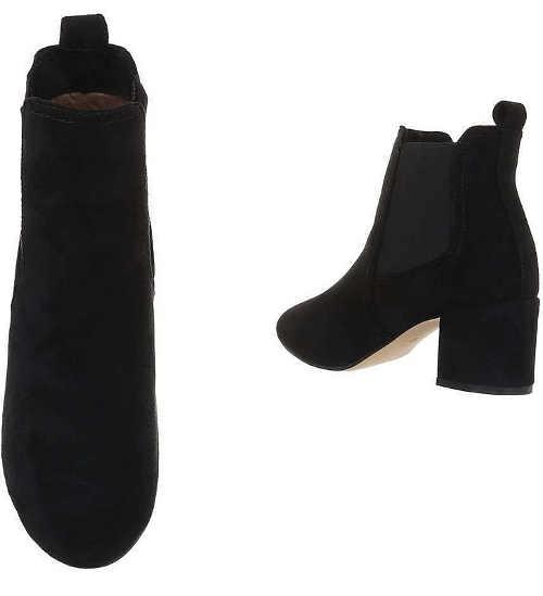 Niskie czarne buty z gumką w kostce