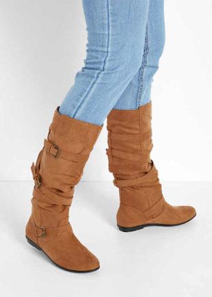 Buty damskie z ozdobnymi sprzączkami
