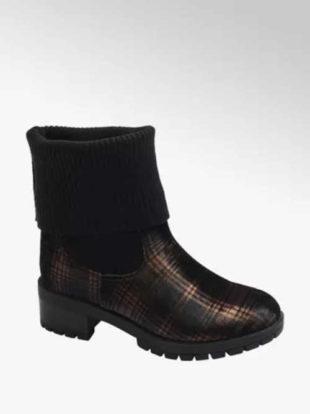 Buty skarpetkowe w modny wzór w kratkę