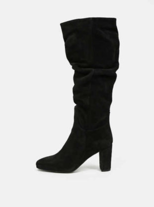 Czarne zamszowe botki damskie Vero Moda