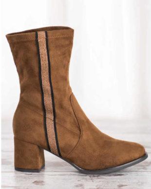 Damskie niskie buty z zamszu