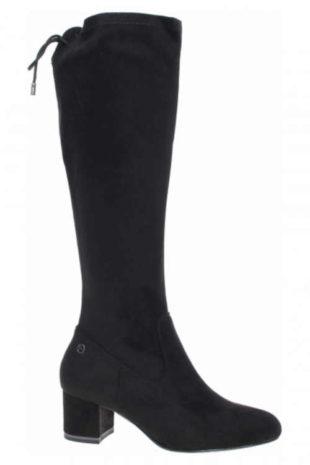 Damskie wysokie buty z elastycznego materiału Tamaris