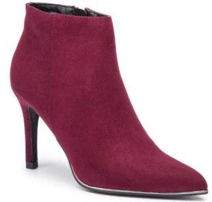 Fioletowe buty do kostki dla kobiet