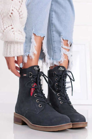 Granatowe buty do kostki S.Oliver