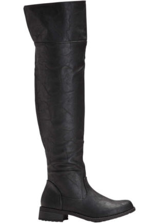 Kozaki nad kolano wykonane z sztucznej skóry